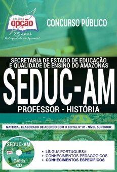 Apostila Concurso Seduc Am 2018 Professor Historia Professor