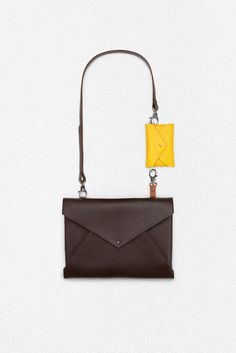 Aiste Nesterovaite | bag w/ yellow wallet
