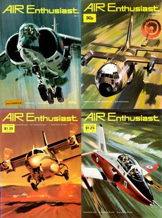 More lavishly illustrated covers of Air Enthusiast magazine from the early 1970s