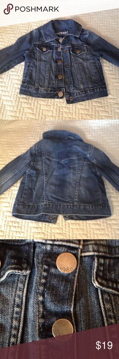 1969 Gap denim Jacket Used and in great condition size 2 little 1969 Gap denim jacket! Goes great with all outfits? Dresses, leggings, tees GAP Jackets & Coats
