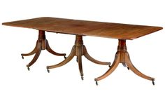 Regency Triple pedestal dining table by ERA Interiors Custom Dining Tables, Pedestal Dining Table, Regency Era, Furniture, Period, Chairs, Interiors, Google Search, Decoration