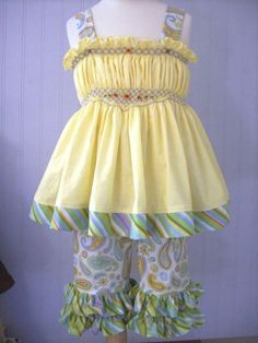 Smocked sun top made with the Flower Power pattern