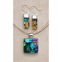 Dichroic Glass Jewelry - SkyMall