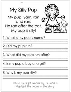 Reading Comprehension for Little Learners