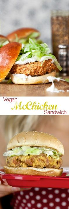Vegan McChicken Sandwich Recipe (Use non-GMO nutritional yeast, and for the breading omit the egg replacer and tempura mix - instead use arrowroot with a little baking soda and club soda - for a crispy, tempura-like breading.)