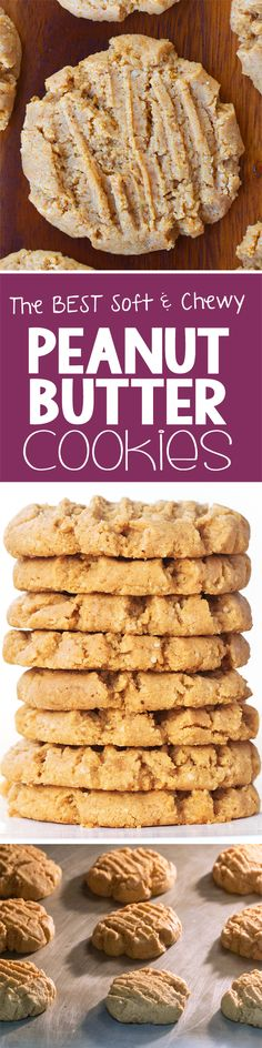The BEST soft & chewy peanut butter cookie recipe I've ever tried - these are amazing!