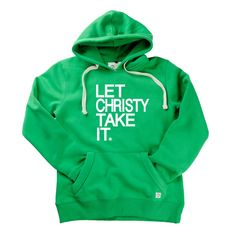 Let Christy Take It Ladies Hoodie by Hairy Baby