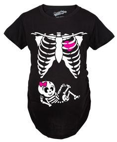f5d319d74 Skeleton Baby Girl Maternity Tshirt - maternity t-shirts - CrazyDog T-Shirts  Funny