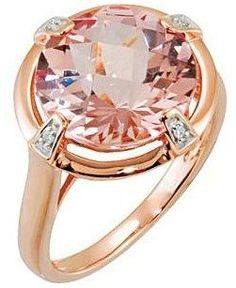Morganite ring with diamonds