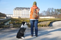 A great shot sent in by our friends in Germany outside Augustusburg Castle in Brühl! We agree - The UNESCO World Heritage site is a beautiful place to have captured your adventure, complete (of course) with Border Rucksack & Border Collie! Great Shots, Heritage Site, Border Collie, Castle, Germany, Winter Jackets, Adventure, Canvas, Friends
