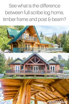 1000 images about log home building tips on pinterest for Types of homes to build