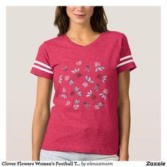Clover Flowers Women's Football T-Shirt