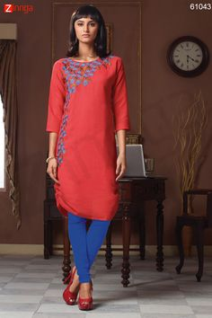 Incredible Wrap Kurti Style with Butta Work. Message/call/WhatsApp at +91-9246261661