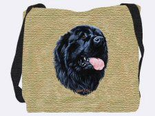 """Newfoundland Tote Bag: """"Our Newfoundland Tote Bag makes a wonderful accessory for anyone who shares… Dog Tote Bag, True Gift, Portuguese Water Dog, Dog Socks, Military Discounts, Coupon Holder, Jacquard Weave, Dog Portraits, Animal Jewelry"""