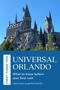 Learn all about Universal Orlando before you go. Tips for touring, where to stay, and what to expect on your first day. From Maven at GoInformed.net Universal Orlando, Universal Studios, Orlando Theme Parks, Orlando Travel, Touring, Harry Potter, Florida, World, Tips