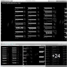 Tổng hợp 21 chi tiết autocad chi tiết tân cổ điển full