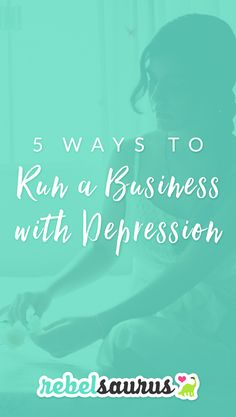 Starting a business is hard.  Starting a business while you also have chronic depression?  Is even more difficult. But it's not impossible.  I dealt with depression for several years and starting businesses has always been the thing that makes me happy. And over the years, I've figured out some unconventional tricks for how to run your business in spite of depression.  Here are 5 unconventional ways to run a business with depression.