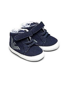 Armani Junior Infant's Eagle Logo High-Top Sneakers