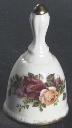 Bell in the Old Country Roses pattern by Royal Albert China