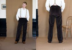 A rare rear-view of a finely crafted trouser.