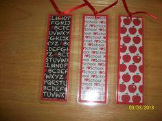 Set of 3 School Days Laminated Bookmarks by ScrapHappyMama on Etsy, $5.95