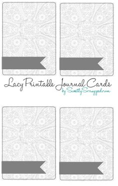 Lacy Journal Cards