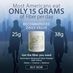 Did You Know: Most Americans eat ONLY 15 grams of #fiber per day. Get the fiber you need with our #Nutriclean Advanced Fiber Powder.  http://www.isotonicsupplementstore.com/nuticlean-advanced-fiber-powder/