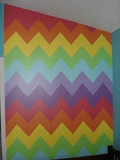 Rainbow of color splashed around the room works for a variety of decorating themes. Rainbow Bedroom, Rainbow Nursery, Rainbow Theme, Bedroom Themes, Kids Bedroom, Bedroom Decor, Bedroom Ideas, Kids Rooms, Master Bedroom