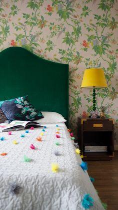 Ballerina Bedroom, Velvet Headboard, Bold Wallpaper, Latest Colour, Decorating Blogs, Easy Diy Projects, Baby Room, Posts, Seasons