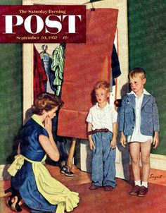 Suiting Her Sons by Richard Sargent, Sept. 20, 1952, The Saturday Evening Post.