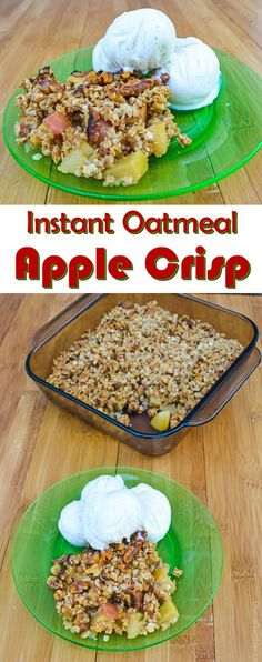 Diana Rambles: Instant Oatmeal Apple Crisp Back in July I posted an Instant Oatmeal Peach Crisp. That recipe got a lot of attention, so I decided to make an apple variety. Perfect for fall! Instant Oatmeal Apple Crisp by Diana Rambles Quick Apple Crisp, Apple Crisp With Oatmeal, Paleo Apple Crisp, Best Apple Crisp Recipe, Apple Crisp Topping, Gluten Free Apple Crisp, Apple Oatmeal, Apple Crisp Recipes, Granny Smith