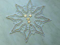 Dekorácie - Vianočná hviezda- paličkovanie - 7423658_