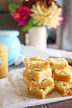 Salted Caramel Butter Bars {From Kleinworth & Co}