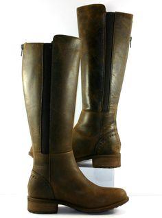 UGG Australia Brown Leather Vinson Knee High Boots Womens Size US 6M NWOB   eBay
