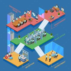 Buy Isometric Office Illustration by macrovector on GraphicRiver. Many-storeyed isometric office with clerks at their workplaces vector illustration. Editable EPS and Render in JPG fo. Motion Graphics, Vector Graphics, Vector Icons, Vector Free, Statistics Symbols, Isometric Design, Vector Portrait, Information Graphics, Vector Photo