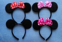 Adult Minnie Mickey Mouse Ears Headband Birthday Party Decoration Kid Minnie Mickey Mouse Party Supplies Bow