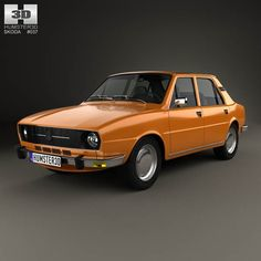 Skoda 105 L 1976 3d model from humster3d.com. Price: $75
