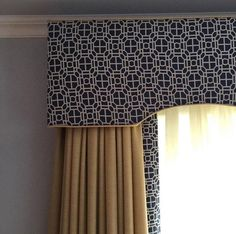 Window treatments designed by at Pelmet Designs, Drapery Designs, Traditional Window Treatments, Custom Window Treatments, Home Curtains, Curtains With Blinds, Burlap Curtains, Valances, Valance Curtains