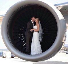 Boda al estilo aviación
