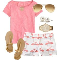 """Pink Flamingo"" by thevirginiaprep on Polyvore"