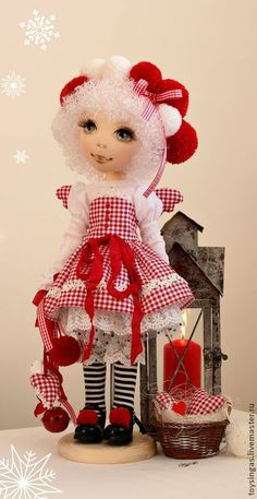 Коллекционные куклы ручной работы. Ярмарка Мастеров - ручная работа Кукла текстильная Love. Handmade.