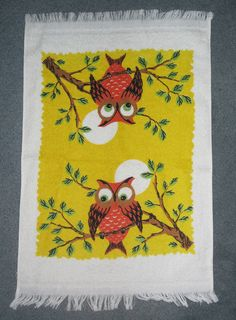VINTAGE KITCHEN OWL TOWEL