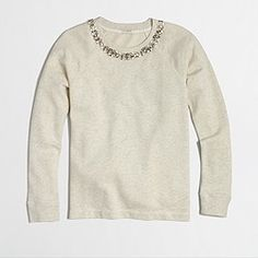 J.Crew Factory necklace sweatshirt