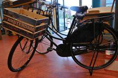 een fietskratje i love amsterdam. gemaakt door www.leukkratje.nl