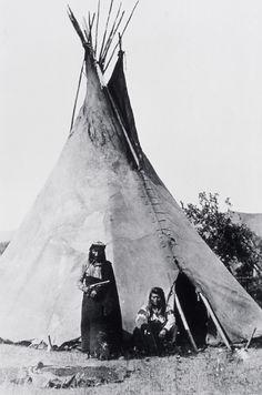 Nez Pirece Indians   nez perce camp photographer unknown no date history indians
