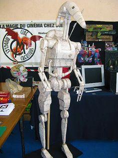 Papercraft - Star Wars Life size Battle Droid   Papercraft4u   Free Papercrafts, Paper Toys, Paper Models, Gratis