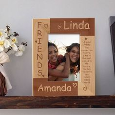 Friends Picture Frame Personalized, Wooden Picture Frames 4x6, Friendship Day Gift, Personalized Picture Frames 5x7 by MarketingHills on Etsy Friendship Messages, Friendship Day Gifts, Generation Pictures, Generation Photo, Friends Picture Frame, Family Photo Frames, Personalized Picture Frames, Wooden Picture Frames, Personalized Birthday Gifts