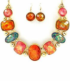 Gold Multi Colored Semi Precious Stones Bib Style Necklace and Earring Set Fashion Jewelry NadiaRima,http://www.amazon.com/dp/B00H6OUOMW/ref=cm_sw_r_pi_dp_8hE0sb0H4MZZ8CR3