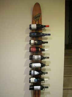 Vintage Waterski Wine Rack. via Etsy.