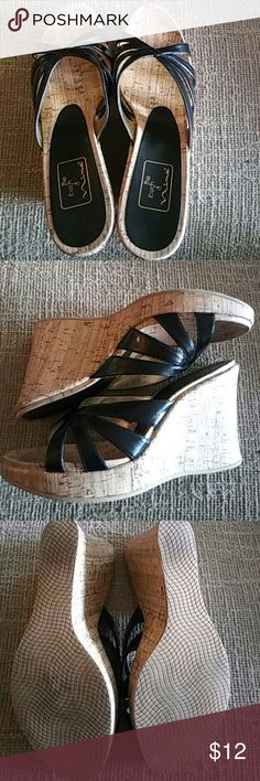 Cork Wedge Sandals Like new cork wedge sandals by The Touch of Nina The Touch of Nina Shoes Sandals